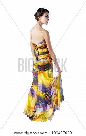 Yellow Dress on White Background