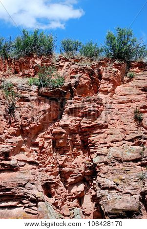 Red rock formation.
