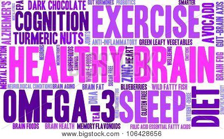 Healthy Brain Word Cloud