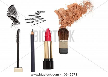 Cosmetic Products Isolated On White