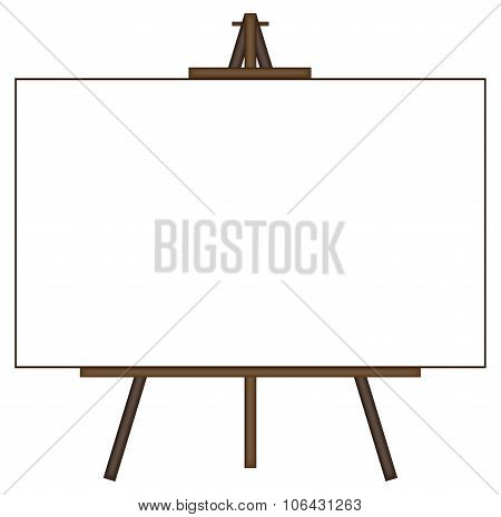 Giant Blank Canvas On Easel