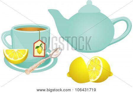 Lemon Tea Set