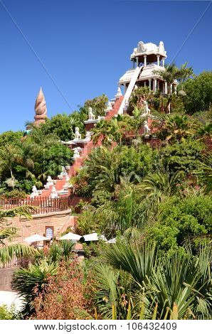 Tower of Power slide in Siam Park on Tenerife
