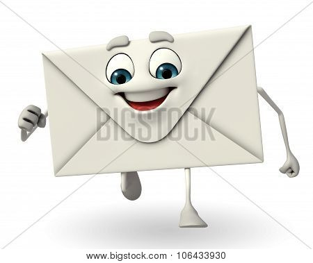 Mail Character Is Running
