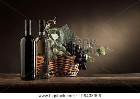 Wine Tasting And Fruit Still Life