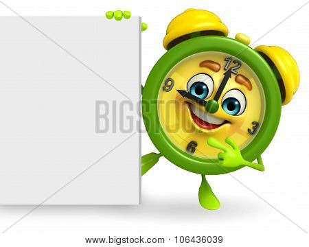 Table Clock Character With Sign