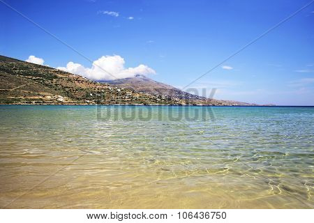 Chrissi Ammos beach in Andros Greece