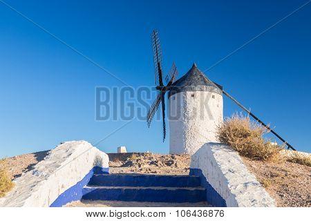 Windmill At Consuegra, La Mancha, Spain