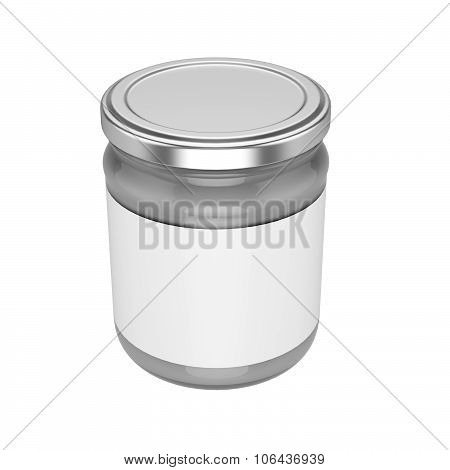 Glass Jar With Metal Lid - Mock Up