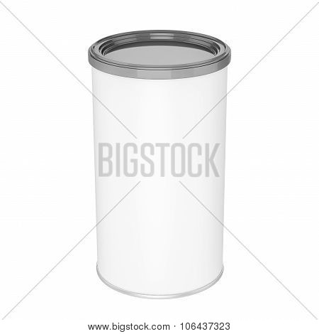Tin Can With Plastic Cap - Mock Up
