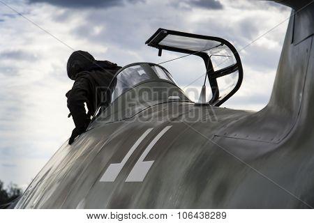 Messerschmitt Me-262 Schwalbe Standing On Runway