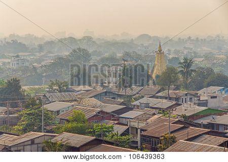 Mandalay early morning panorama