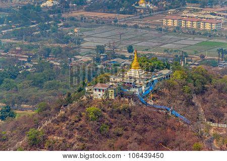 Panorama of the Mandalay city