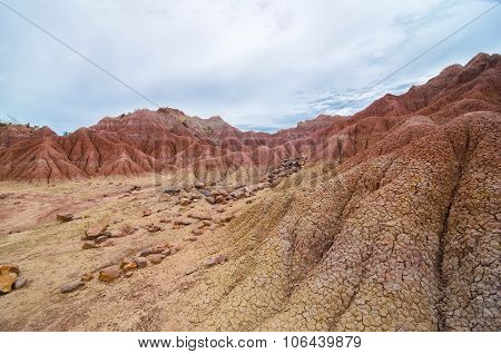 Another Planet Like Terrain Of Tatacoa Desert