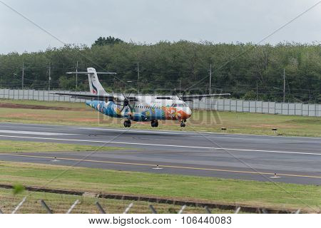 Nok Air Airline Landing At Phuket Airport