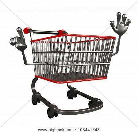 The Trolly Charecter Is Pointing