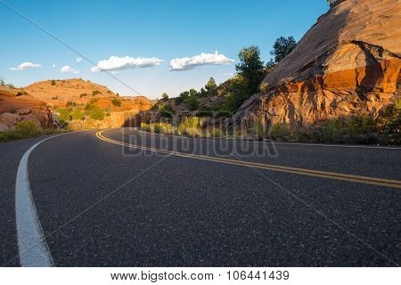 Utah Highway 12 Million Dollar Road Low Angle