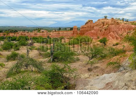 Amazing View To Colorful Tatacoa Desert