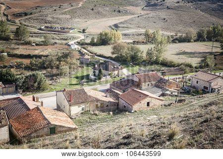Los Ausines village - Barrio Sopeña - Burgos, Spain