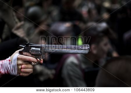 Hand And Revolver