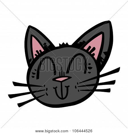 Cute Black Cat Cartoon