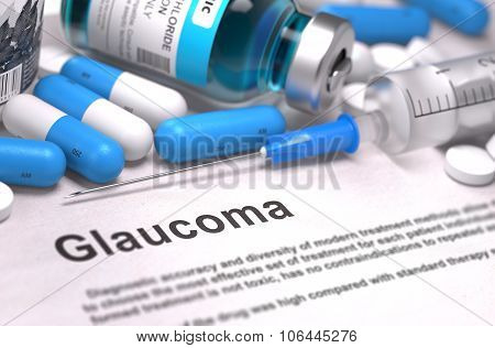 Glaucoma Diagnosis. Medical Concept.