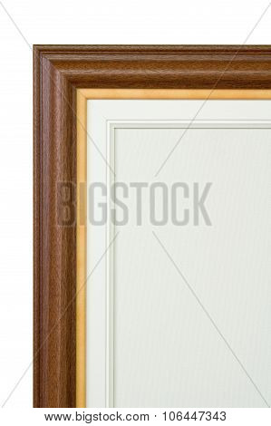 Frame And Painter Artist Canvas Isolated On White