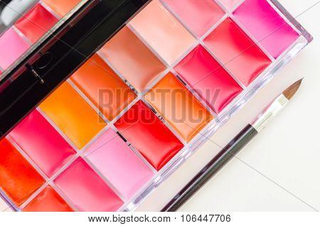 Lipstick And Lip gloss Makeup Palette.