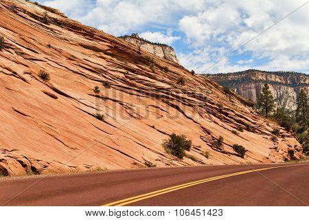 Asphalt Road in Zion National Park