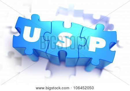 USP - White Word on Blue Puzzles.