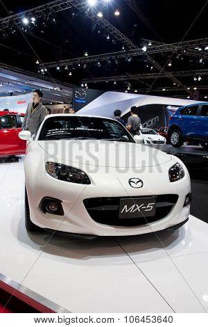 Bangkok - March 31 : Mazda Mx-5 Car On Display At The 34Th Bangkok International Motor Show 2013