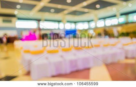 Blurred Image Of Seat In Auditorium