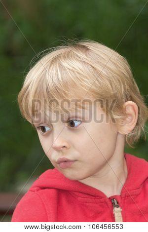 Blond Boy Outside