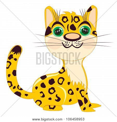 Illustration Of The Leopard On White Background
