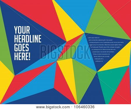 Vibrant Colorful Prism Design Template