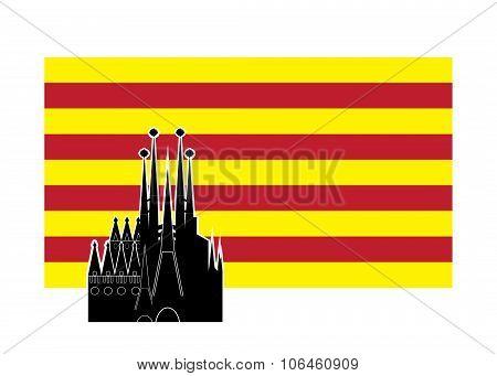 flag of Catalonia Spain