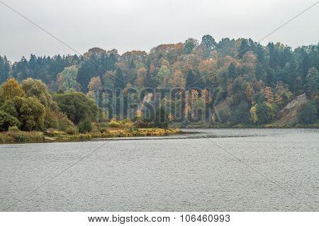 Neman River In Autumn