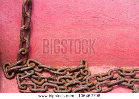 Rusty Metal Chain Texture.