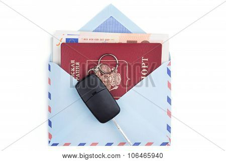 Airmail Envelope With Money