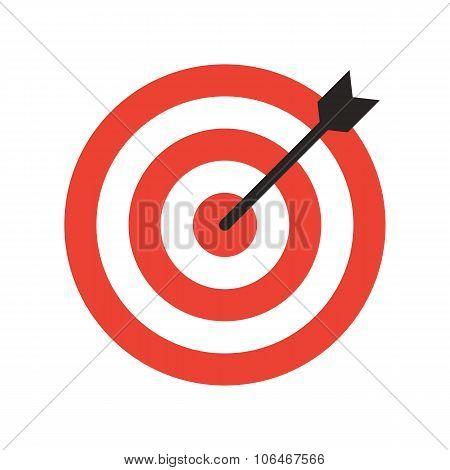 Target icon, modern minimal flat design style. Aim vector illustration