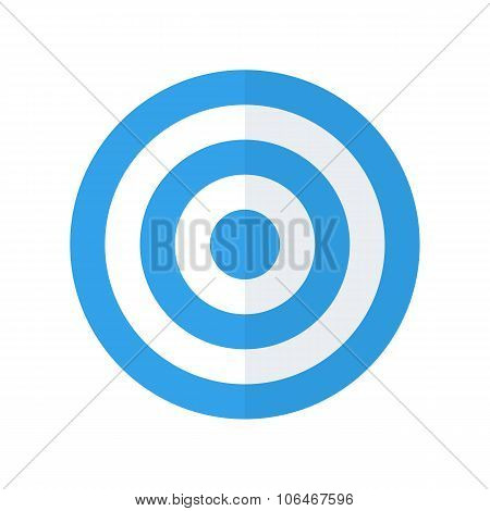 Target icon, modern minimal flat design style. Aim vector illustration