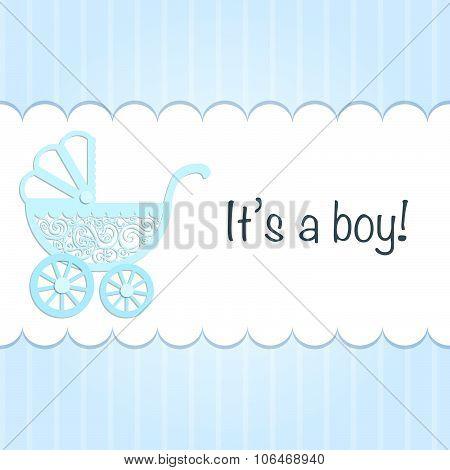 Paper Baby Pram.