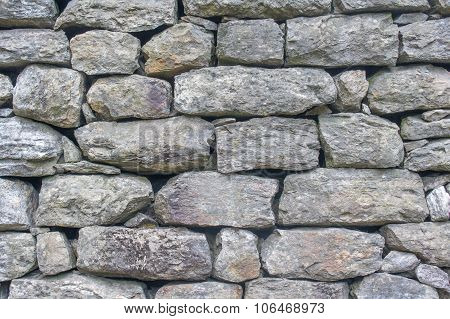 Old Brick Wall With Rough And Scuffed