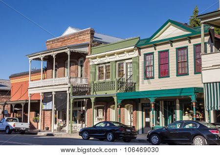 Old Buildings In The Historical Center Of Sutter Creek
