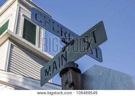Street Sign On Main Street In Sutter Creek