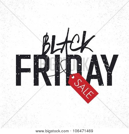 Black Friday sales Advertising Poster with Christmas trees silhouettes. Christmas sale