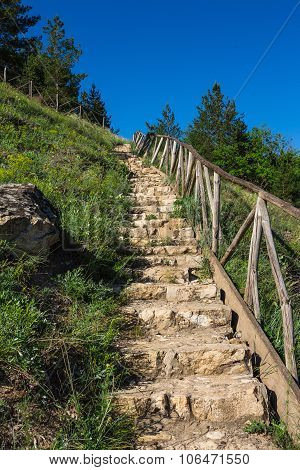 Old Stone Stairs On A Hill
