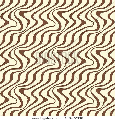 Geometric Seamless Pattern With Ripple Stripe Background.