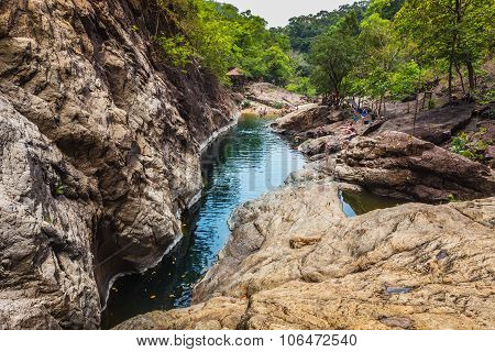 Waterfall On The Island Of Koh Chang In