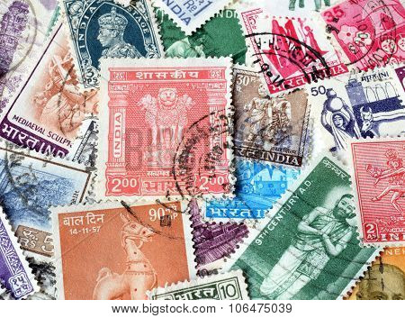 India on stamps